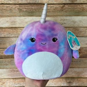 Squishmallow Hallie The Narwhal Tie Dye NEW